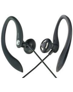 Moki sports earphones.  black.