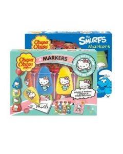 Chupa chups markers (hello kitty & smurfs) 84g