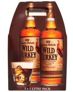 Wild turkey 86.8 twin 2 x 1l