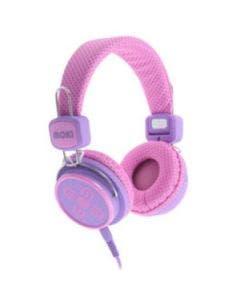 Headphone moki kid safe pink and purple