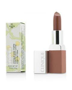 Clinique pop matte lip colour + primer blushing pop 3.9gm/.13oz