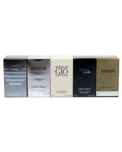Armani set 5 miniatures men collection